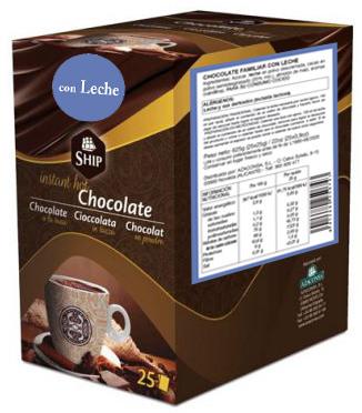 Ship chocolate 25 con leche