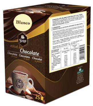Ship chocolate 25 - Blanco